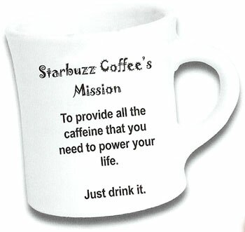 Starbuzz coffee cup